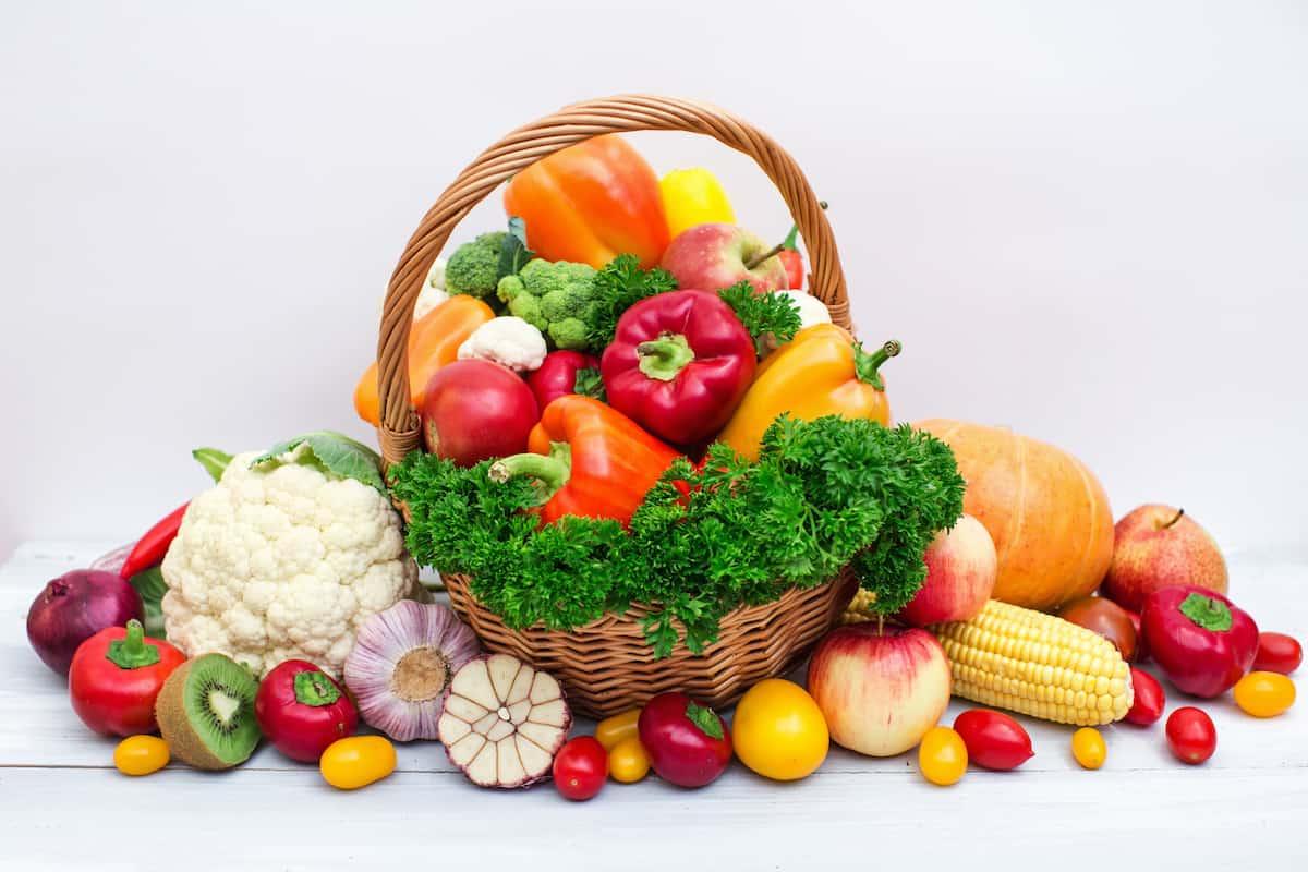 色とりどりのおいしそうな野菜