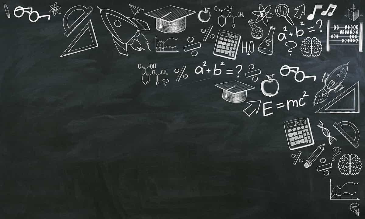 学びと黒板