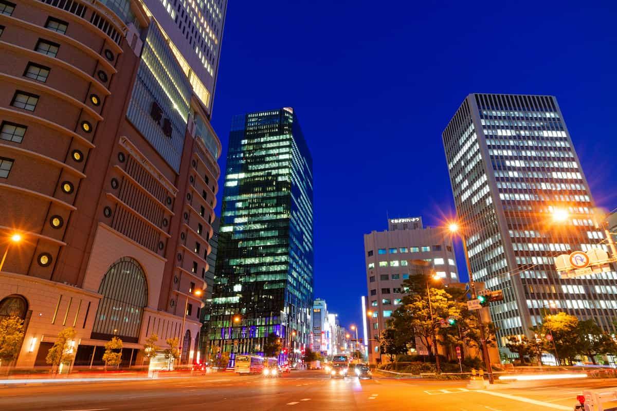 大阪梅田の街